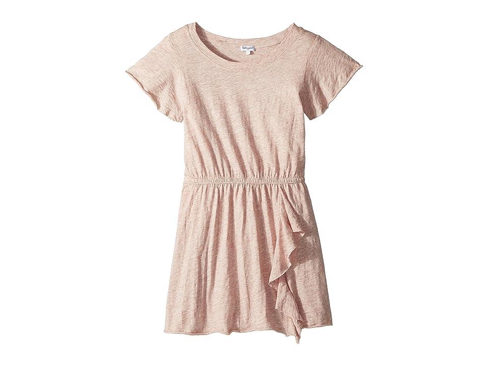 Splendid Littles Melange Dress (Big Kids) (Seafoam Pink) Girl
