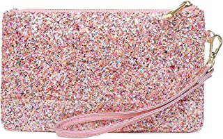Lam Gallery Womens Shiny Clutch Purse Glitter Evening Clutch Bling Wallet Bag
