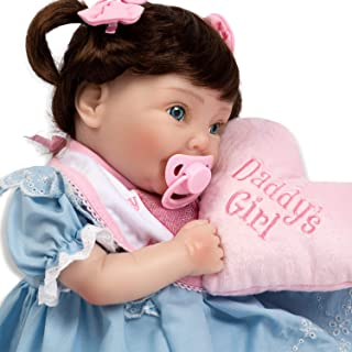 Paradise Galleries Reborn Toddler Doll - Daddy's Girl, 21 inches, New SoftTouch Vinyl, Weighted Body, 5-Piece Doll Reborn Doll Set