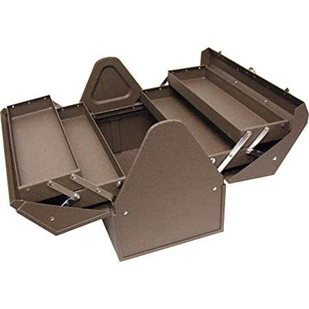 Homak Industrial 18-Inch Cantilever Steel Toolbox, Brown Winkle Powder Coat, BW00210180