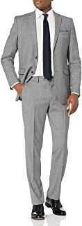 Men's Slim Fit, 2pc Suit with Finished Bottom Hem