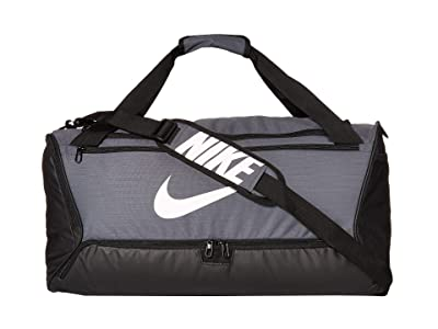 Nike Brasilia Medium Duffel 9.0 (Flint Grey/Black/White) Bags