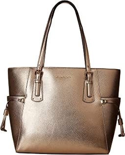 0cc2d91be626 Michael michael kors jet set ew signature tote rose gold mirror ...