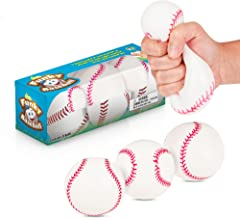 IPIDIPI TOYS Squish and Stick Lumpy Baseballs - 3 Pack - Pull and Stretch Squishy, Hard Moldable Balls for Stress, Tension, or Anxiety Release - Great Toy for Those with Autism or ADHD - Fun Gift