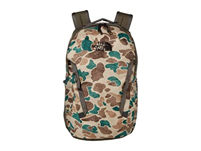 The North Face Vault Backpack (Hawthorne Khaki Duck Camo Print/New Taupe Green) Backpack Bags