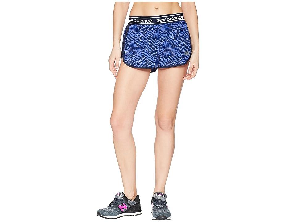 New Balance Printed Accelerate 2.5 Shorts (Blue Iris/Aztec/Black) Women