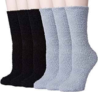 6 Pairs Mens Socks - Fuzzy Coral Fleece Warm Slipper Winter Socks