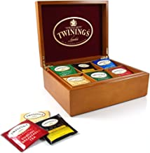 Twinings Wooden 6 Compartment Divided Tea Box