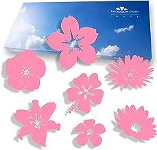 imaggge.com Anti-botsingsstickers voor glazen deuren (18 bloemen) – voorkomt vogelslagen of personenschokken op ramen – kl...