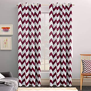 Best chevron curtains red Reviews