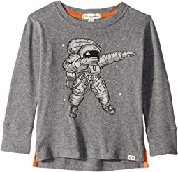 Soft Astronaut Print Graphic Long Sleeve Tee (Toddler/Little Kids/Big Kids)