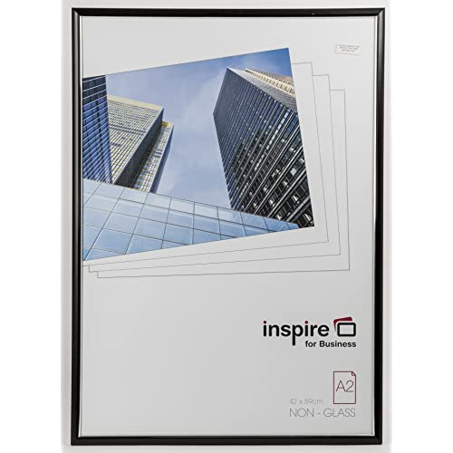 Inspire For Business A2 Easy Loader Photo/Poster Frame - Black