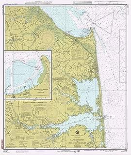 Map - Cape Henlopen To Indian River Inlet, 1978 Nautical NOAA Chart - Delaware (DE) - Vintage Wall Art - 44in x 53in