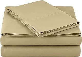 AmazonBasics Light-Weight Microfiber Sheet Set - Twin XL, Olive