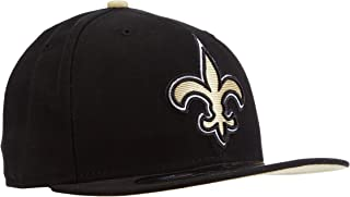 NFL Mens New Orleans Saints On Field 5950 Game Cap By New Era