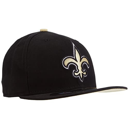 9f85d8f73 NFL Mens New Orleans Saints On Field 5950 Game Cap By New Era
