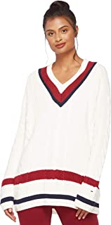 TOMMY HILFIGER Women's 8719704389-Off-White Pullover Tops