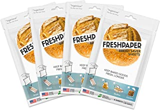 FRESHPAPER Food Saver Sheets for Bread (8-sheet package) - 4 Pack