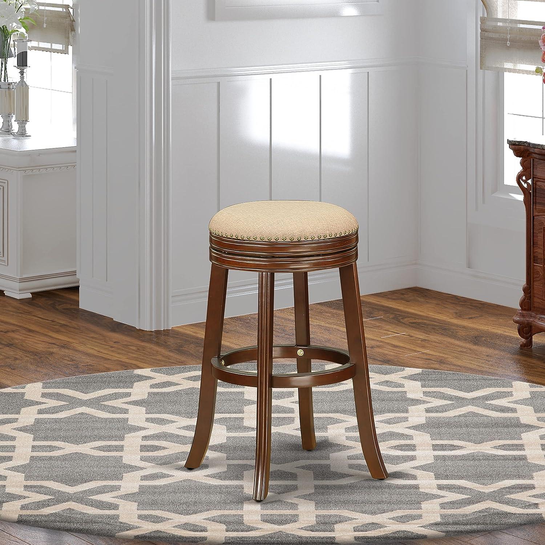 East West Furniture Devers Swivel Louisville-Jefferson County Mall Barstool 30'' He Store Backless Seat