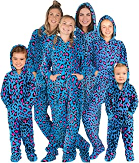 Family Matching Blue Leopard Hoodie Onesies for Boys, Girls, Men, Women and Pets