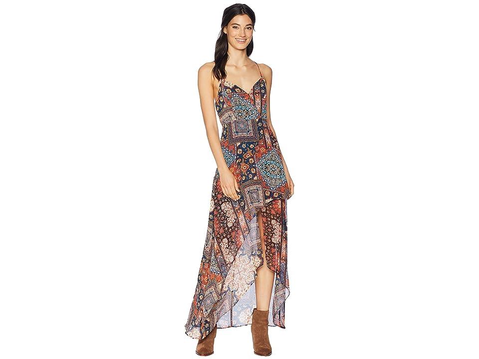 BCBGeneration Woven Evening Dress (Orange Spice Combo) Women