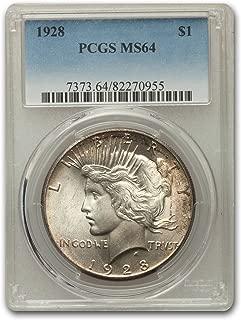 1928 Peace Dollar MS-64 PCGS (Key Date) $1 MS-64 PCGS