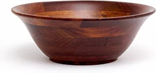 Lipper International 264 Cherry Finished Flared Serving Bowls for Salads or Fruit, Large, 14