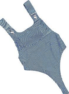 Women Monokini Stripe One Piece Backless High Cut Swimwear Semi Thong Bikini