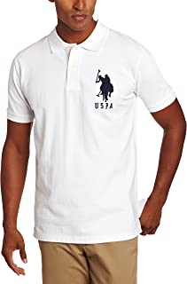 Men's Solid Short-Sleeve Pique Polo Shirt