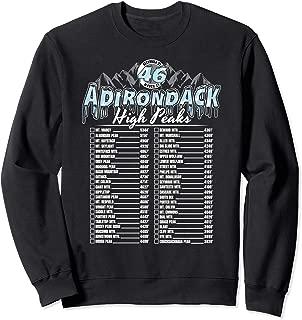 46 Adirondack Mountain Winter Checklist Sweatshirt