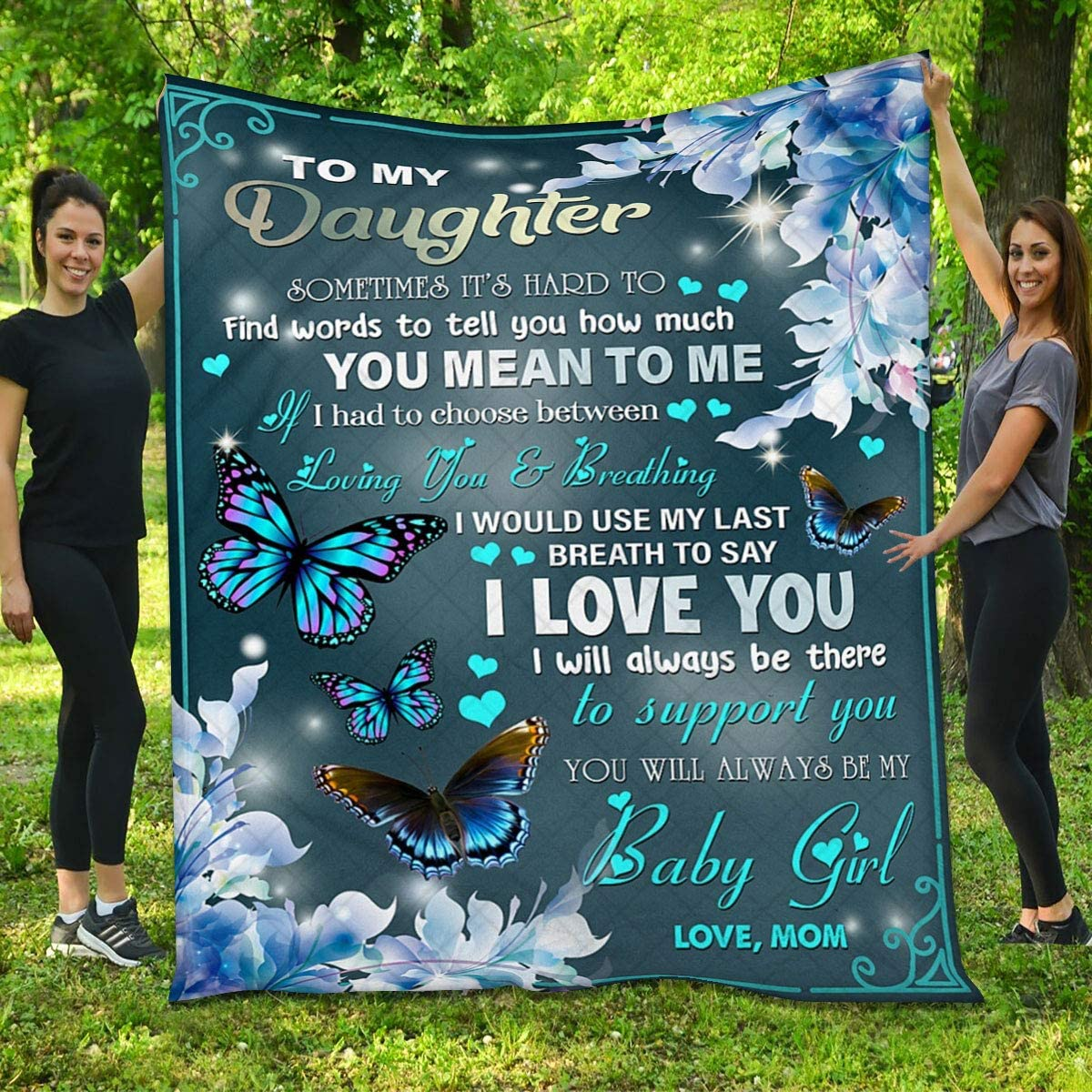 for Daughter Popular popular Quilt - 40% OFF Cheap Sale Butterfly You Bab Will Be Always My