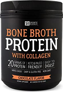 Bone Broth Protein with Collagen (Chocolate Flavor) ~ Paleo & Keto diet approved ~