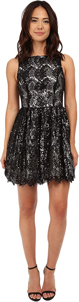 Sabrina Sequin Lace Dress
