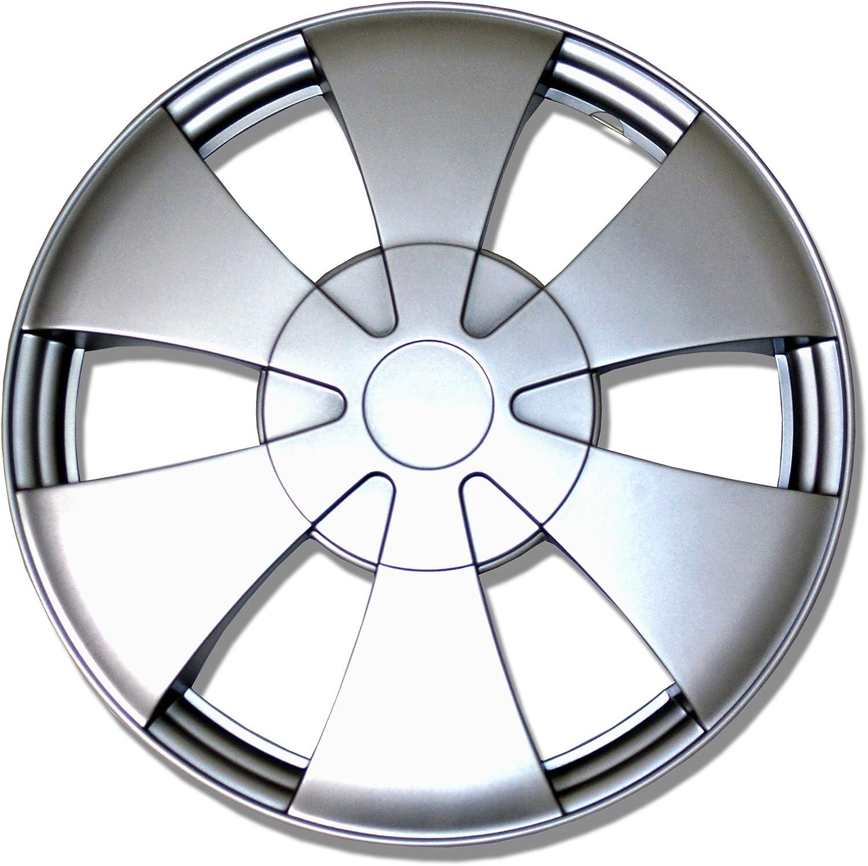 高級品 TuningPros まとめ買い特価 WC-14-717-S 14-Inches-Silver Improved Wheel Hubcaps S