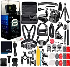 $349 » GoPro HERO8 Black Digital Action Camera - Waterproof, Touch Screen, 4K UHD Video, 12MP Photos, Live Streaming, Stabilization - with 50 Piece Accessory Kit - All You Need Bundle (Renewed)