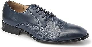 Majestic Collection Men's Shoes Majestic Lace-Up Cap Toe Dress Shoe Faux Tumble Leather