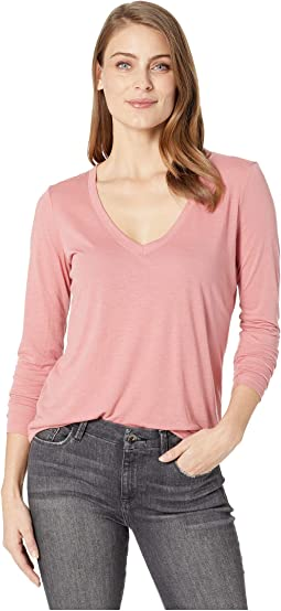 Long Sleeve Slinky V-Neck