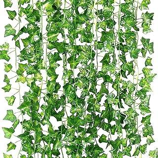 Stathm Artificial Ivy Leaf Plants Vine - Hanging Garland Fake Foliage Flowers Home Kitchen Garden Office Wedding Wall Deco...