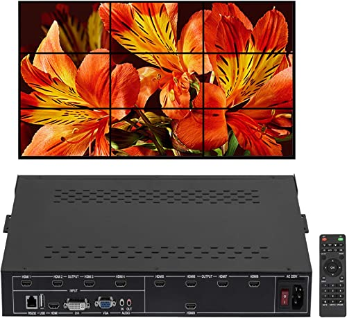 wholesale Mophorn HDMI DVI VGA Video Wall Controller Video Wall Processor with 1 HDMI Input and 9/4 HDMI Outputs Matrix Switcher for Perfect Visual outlet online sale high quality Experience (9HDMI) outlet sale
