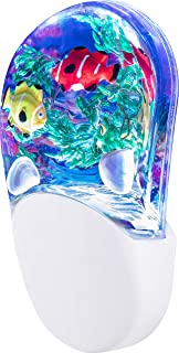 Aqualites 10908 Tropical Fish LED Night Light, Plug-In, Color Changing, Light Sensing, Auto On/Off, Soft Multicolor Glow, ...