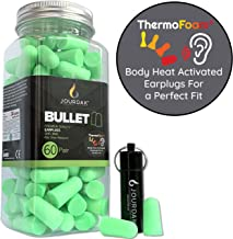 Ear Plugs for Sleeping Block Out Snoring, Premium Thermo Foam Noise Reduction and Cancelling Earplugs for Shooting Range Sleep Loud Events Construction Work Study by Jourdak New NRR/SNR 36db 60Pair