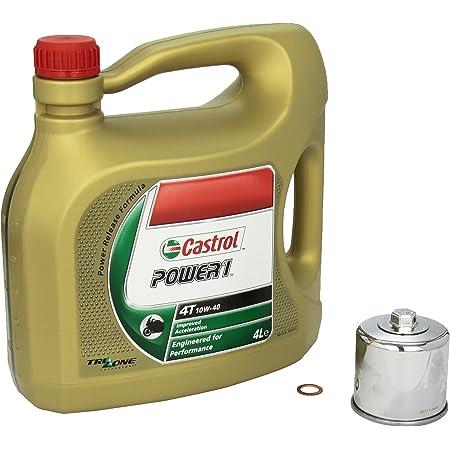 Castrol Power1 10w 40 Ölwechsel Set Suzuki Bandit S 650 Abs Gsf 650 S Bj 05 13 Motoröl K N Chrom Ölfilter Und Dichtring Auto