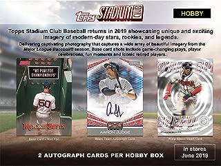 2019 Topps Stadium Club Baseball Factory Sealed 16 Pack Hobby Box - Baseball Wax Packs