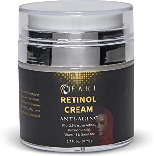 OFARI - Premium Retinol Moisturizing Cream (1.7 oz) | Anti-Aging Wrinkle Reduction Cream for Face & Neck | Repairs & Reduces Signs of Aging like Puffy Eyes & Fine Lines | Use Day or Night
