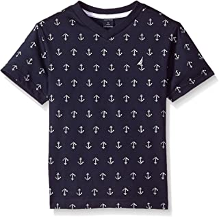 Boys' Short Sleeve Printed V-Neck T-Shirt