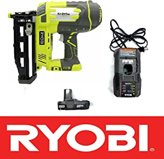 Ryobi 18V One+ Airstrike 16-Gauge 3/4in-2-1/2in Cordless Finish Nailer P325 - Battery & Charger Included (Renewed)