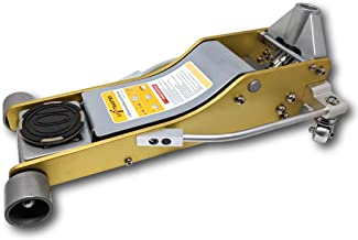 Liftmaster 3 Ton Aluminum and Steel Low Profile High Lift Floor Jack (Gold)…