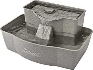 PetSafe Drinkwell Multi-Tier Pet Fountain - Automatic Dog or Cat Water Fountain - Fresh, Flowing 100 oz Capacity Water Dispenser - Great for Senior Pets - Dishwasher Safe - Filters Included