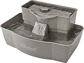 Best PetSafe Drinkwell Multi-Tier Cat and Dog Water Fountain - Automatic Drinking Fountain for Pets - 100 Oz. Water Capacity (PWW00-13708), Grey Review