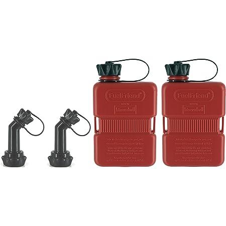 Fuelfriend Plus 1 0 Liter Klein Benzinkanister Mini Reservekanister Verschließbares Auslaufrohr Im Doppelpack Auto